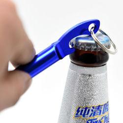 Logo Laser Mini Pocket Aluminium sleutelhanger Whistle Portable Beer Flecon CAN Opener Promotion Gift Custom Logo