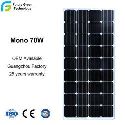 A급 품질 70W 18V 단결정 태양 모듈