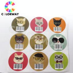Etichetta PET in lamina di argento rotonda per stampa a colori