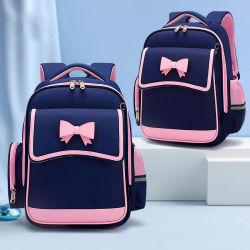 La parte posteriore all'ingrosso del tessuto di modo della Cina insacca il doppio zaino dei bambini di Bookbag del capretto dei sacchetti di banco dei bambini della spalla