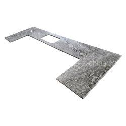Сегменте панельного домостроения Bianco Antico гранитными столешницами из камня для кухни и ванной комнаты