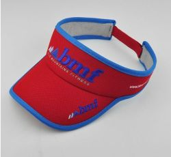 Visera de moda personalizada de la tapa de la Piña tejido bordado Deporte Visor Visor corriendo