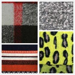 Elegante diseño Spandex Fiber-Dyed Jacquard Jacquard de lana tejido en Stock de Tela al por mayor