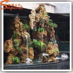 Venda por grosso de fábrica Chafariz de matérias plásticas artificiais para decoração de jardim