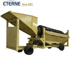 150 toneladas de oro aluvial de la planta de lavado con la esclusa de verificación Trommel vibra