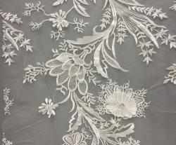 Mode de gros de la broderie blanc tissu Fancy Garment dentelle de coton