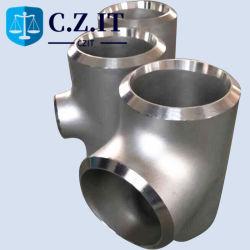 등등한 ASTM Seamless Stainless Steel 316L 파이프 피팅 티
