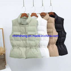 Warm Outdoor Beauty Girl Young Women Stock Cheap Small Quantity를 위한 형식 Wholesale Lady Down Vest Wear