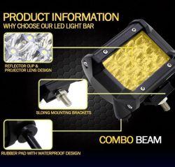 3 строки желтая лампа противотуманных фар автомобиля Auto светодиод по просёлочным дорогам фонари рабочего освещения