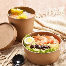 Enlever le papier écologique de la Salade Conteneur Cup Cake de cuisson
