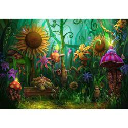 Forêt de bande dessinée Fleurs Paysages de diamants de gros de peinture La peinture de broderie de perles de l'Art