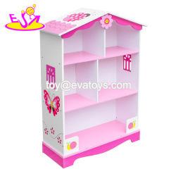 As crianças com Novo Design Dollhouse estante de madeira para o quarto W08d015
