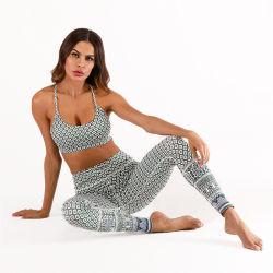 De Digitale de twee-Stukken van de Druk Sportkleding van uitstekende kwaliteit van de Vrouwen van de Geschiktheid van de Yoga Vastgestelde