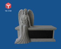 Columbarium grigio della scultura del granito di angelo del posto adatto per il giardino del cimitero