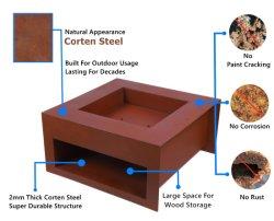 Best Portable Quintal moderno de aço Grande Piscina Exterior Fire Pit/churrasco ao ar livre de aço corten fire pit Tabela