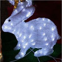 ضوء LED عيد الميلاد لالديكور الخارجي أرنب