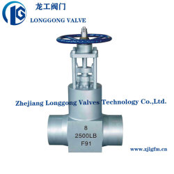 기어 작동식 단조 강철 고온 고압 실 출력 스테이션 A182 F11 F22 버트 용접 엔드 게이트 밸브