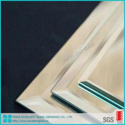 5 mm de 6mm para casa de banho Biselado retangular espelho de vidro na parede