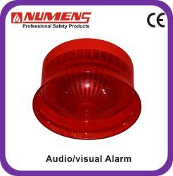 Bajo consumo de corriente, luz estroboscópica de larga duración, alarma de incendio de audio / visual (442-004)