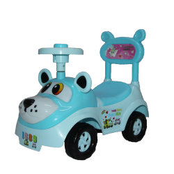 De plastic Kinderen slingeren de Auto van de Draai met Wielen