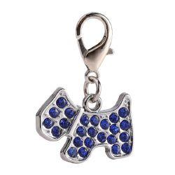 Cane forma Rhinestone Cute Tag PET Bling Charm Tag Accessori per cani Esta16527