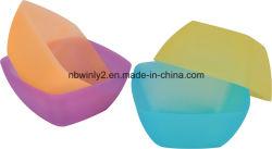 Plástico de color transparente Ensaladera (WLD3001)