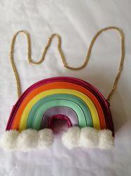 빛나는 숙녀가 사슬 작풍 여자 지갑에 의하여, 젤리 모양이 된다 Handbag 의 무지개 디자인 술을%s 가진 다채로운 손 부대