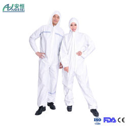 Combinaison jetable de sécurité film microporeux Coverall Vêtement de protection