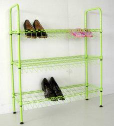 Regal-Stahldraht-Schuh-Speicher-Bildschirmanzeige-Zahnstangen-Organisator der Farben-DIY 3