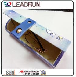 Sol de envases de vidrio aluminio EVA caso gafas gafas Gafas de Metal Case Caja de gafas de óptica de vidrio de hierro (HXX11A)