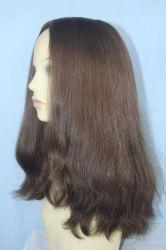 Peluca judío 100% de la Virgen de Mongolia Remy cabellos con la parte superior de la Seda Cabello peluca Kosher