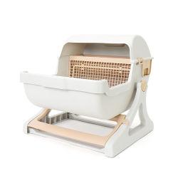 Pet Caja de arena Limpieza rápida de Semi-automático caja de arena de gato, gato wc Box Esg12712