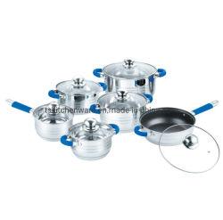 Acero inoxidable utensilios de cocina establecido 12PCS con Silicome Refrescarse manejar