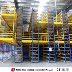Heavy Duty de almacén multi capa admitido el entresuelo de almacenamiento Rack