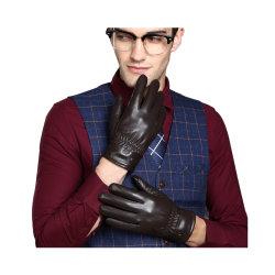 Handschoenen van het Leer van het Suède van de Handschoenen van de Winter van de Mensen van de Manier van de douane de Openlucht Warme voor de Winter Mens