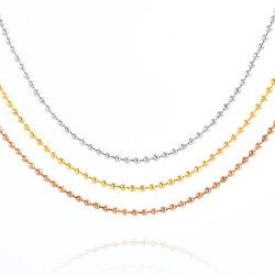 Bijouterie de promotion de la chaîne à billes en acier inoxydable Accessoires collier pour Bijoux Lunettes Rideau Design Fashion Tag