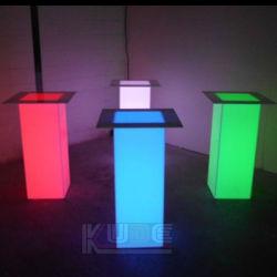 Tabla de pilar de luz LED de estado de ánimo de Deco con LED que cambia de color
