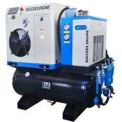 De geïntegreerder Draagbare Machine van de Compressor van de Lucht van de Schroef 4kw 5.5HP