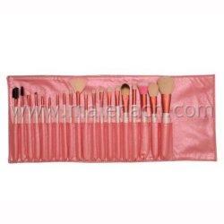 Розовый 20ПК на базе профессионального макияжа щетки с природными волос