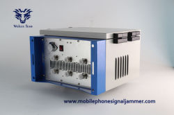 Outdoor imperméable haute puissance réglable PCS CDMA DCS GSM 3G 4G WiFi la prison de signal brouilleur de téléphone cellulaire