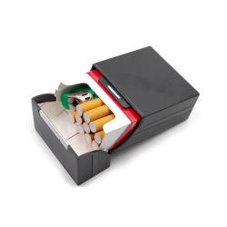 Роскошный тонкий пластик с металлическими алюминиевый держатель корпуса сигарет