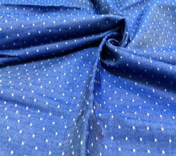 Baumwolle Chambray mit Dobby Point Yarn Dyed Fabric