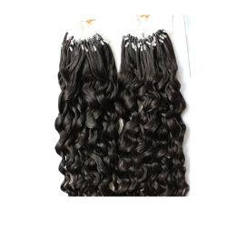 Bucle Micro-Ring el cabello rizado Remy de extensión de cabello humano.