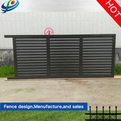 Im Freien Aluminiummetallgarage, die /Main-Gatter-Entwurf der galvanisierten Stahlzaun-Tür/des bearbeiteten Eisens automatischer für Haus/Garten/Bauernhof schiebt