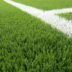 Uの形レモンまたはフィールドカラー40mm運動場または体操装置のための15のステッチフットボールかサッカーまたは人工的なスポーツの芝生