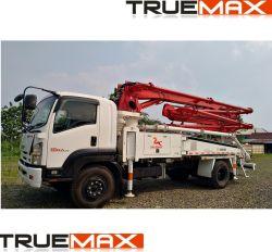 Função de três a mistura de betão Truck-Mounted Colocação da Bomba da Lança