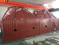 冷凍の工場設備のためのステンレス鋼オイルの蒸気水二重管のひれのシェルそして管の熱交換器