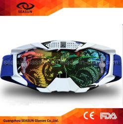 O vintage fresco projeta a cinta UV400 protege óculos de proteção do esqui da motocicleta