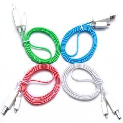 Яркий USB кабель передачи данных с выделением ПРОВОД ЗАРЯДКИ LED световой трубки