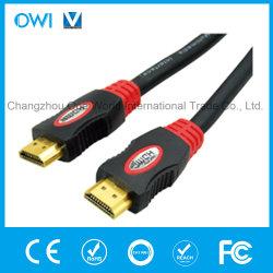 携帯電話のカムコーダーHDTVのための二重カラーHDMI 19pinプラグプラグケーブル